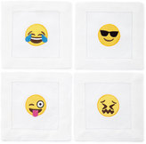 Emoji Emotional Roller Coaster Cocktail Napkins, 4-Piece Set