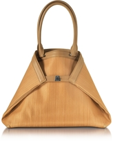 Akris Ai Medium Camel Horsehair Tote Bag