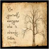 "Art.com Be Yourself"" Wall Art Print"