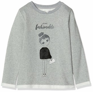 Name It Girls' NKFOBELINE LS Sweat BRU Sweatshirt