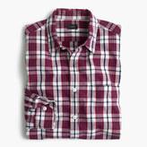 J.Crew Slim slub cotton shirt in red check
