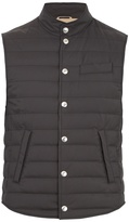 Brunello Cucinelli High-neck quilted gilet