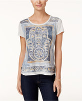 Style&Co. Style & Co. Petite Vintage Hand Graphic T-Shirt, Only at Macy's