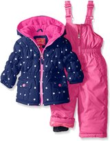 Pink Platinum Girls' Infant Foil Star Printed Snowsuit
