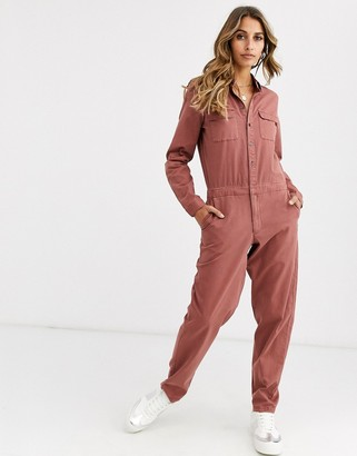 Vero Moda utility boiler suit in brown
