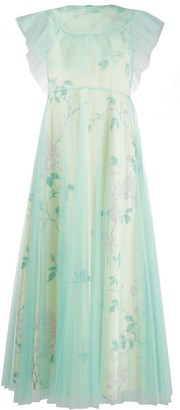 RED Valentino Floral Print Tulle Dress