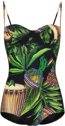 Dolce & Gabbana Jungle print balconette swimsuit
