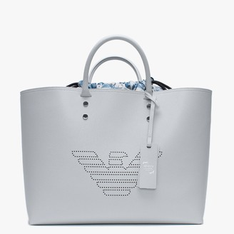 Emporio Armani Dust & Faded Sugar Recycled Leather Shopper Bag