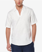Cubavera Men's Linen-Blend Open-Neck Short-Sleeve Shirt