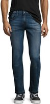 7 For All Mankind Paxtyn Skinny Jeans with Released Hem, Blue