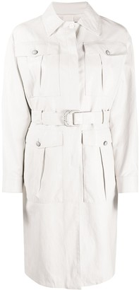 Pinko Diplomatic leather-effect trench coat
