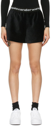 alexanderwang.t Black Stretch Corduroy Shorts