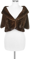 Forzieri Ultimate Luxury Collection Brown Mink Fur Front-pockets Cape