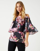 Star by Julien Macdonald Floral Frill Bardot Top