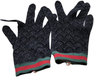 Gucci Black Cotton Gloves