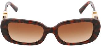 Valentino Eyewear VLogo Oval Frame Sunglasses