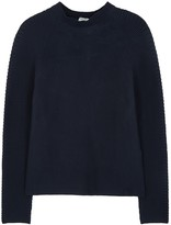 Kenzo Navy Ribbed Cotton Blend Jumper