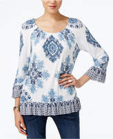 INC International Concepts Ruffled Peasant Top, Only at Macy's