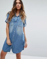 Replay Oversized Denim Shirt Dress
