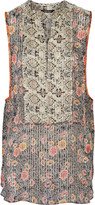 Isabel Marant Amanda printed silk-georgette top