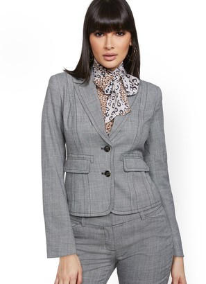 New York & Co. Petite Topstitched Two-Button Jacket - 7th Avenue
