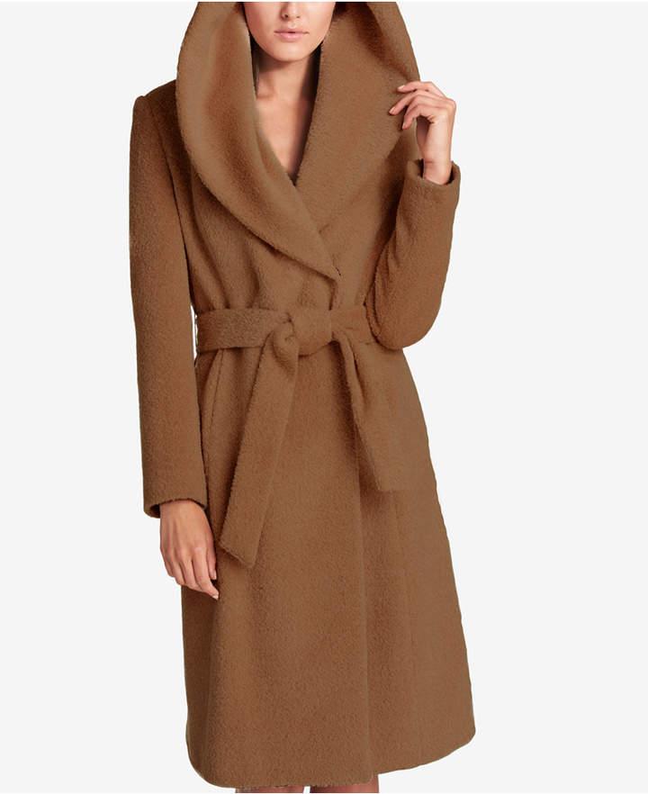 DKNY Shawl-Collar Wrap Coat
