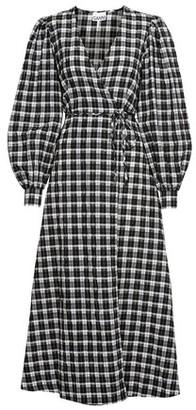 Ganni Seersucker wrap dress