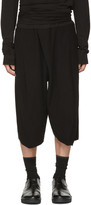 Julius Black Tucked Baggy Trousers