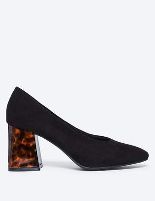 M&S CollectionMarks and Spencer Flared Block Heel Court Shoes
