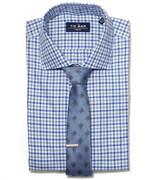 The Tie Bar Blue Multi Plaid Non-Iron Shirt