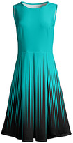 Lily Women's Casual Dresses TRQ - Teal & Black Ombre Sleeveless Fit & Flare Dress - Women & Plus