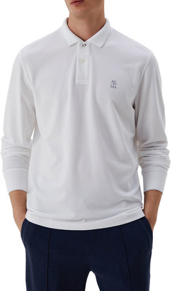 Brunello Cucinelli Men's Spa Pique Tipped Polo Shirt