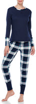 Splendid Two-Piece Plaid Top & Pants Pajama Set