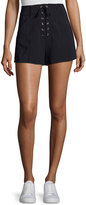 A.L.C. Kyle Lace-Up High-Waist Shorts, Navy