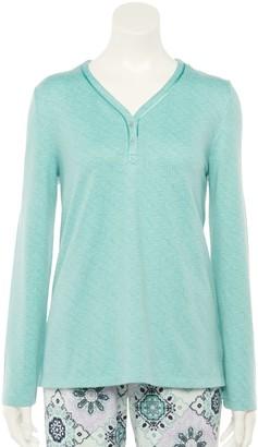 Croft & Barrow Women's Whisperluxe Henley Pajama Top