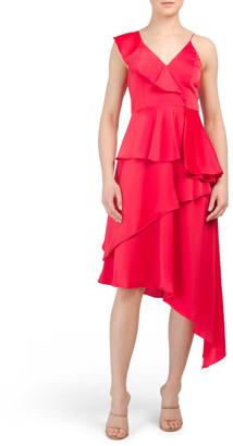 Charmeuse Asymmetrical Dress