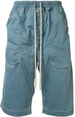 Rick Owens Drawstring Denim Shorts