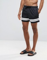 Brave Soul Bravesoul Two Stripe Short Length Swim Short