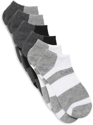 Calvin Klein Six-Pack Striped Socks
