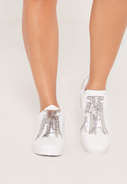Missguided White Tassel Front Sneakers