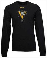 Reebok Men's Pittsburgh Penguins Logo Reflect Long Sleeve T-Shirt