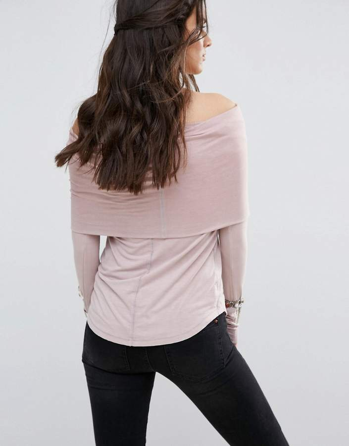 Free People Cosmo Cowl Neck Long Sleeved Tee