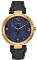 Nixon 'Chameleon' Leather Strap Watch, 39Mm