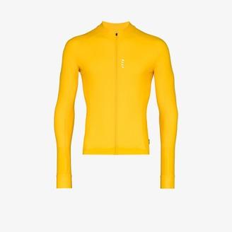 MAAP Yellow Long Sleeve Training Jersey Top