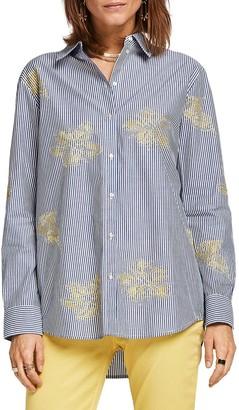 Scotch & Soda Boyfriend Embroidered Shirt