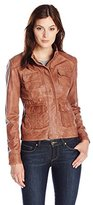 Lucky Brand Women's Derby Leather Jacket