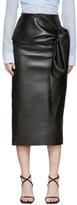 Materiel Tbilisi Black Faux-Leather Waist Tie Skirt