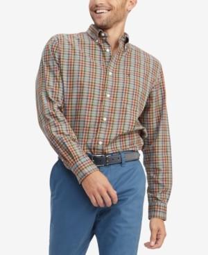 Tommy Hilfiger Men's Gillian Classic-Fit Th Flex Stretch Plaid Shirt