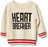 Heartbreaker intarsia crew sweater