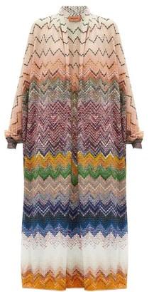 Missoni Graduated Zigzag-knit Cardigan - Pink Multi